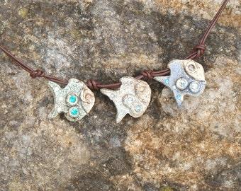 Necklace Ceramic Fish