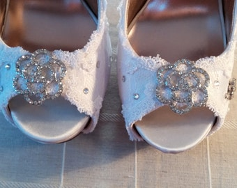 Handmade Bridal Shoes - new with box - size 7.5