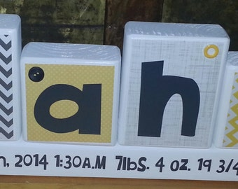 Children's Name Block Set