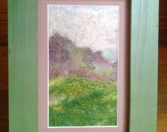 Echoing Song   (needle-felted landscape fiber art)