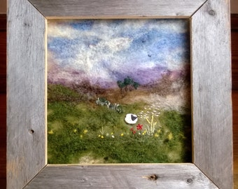 Gentle Breeze   (needle-felted landscape fiber art)