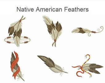 Native American Feathers Indian Culture Machine Embroidery Designs Pack Instant Download 4x4 hoop 14 designs SHE662