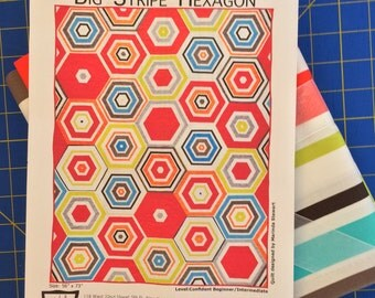 Big Stripe Hexagon Quilt – Michael Miller
