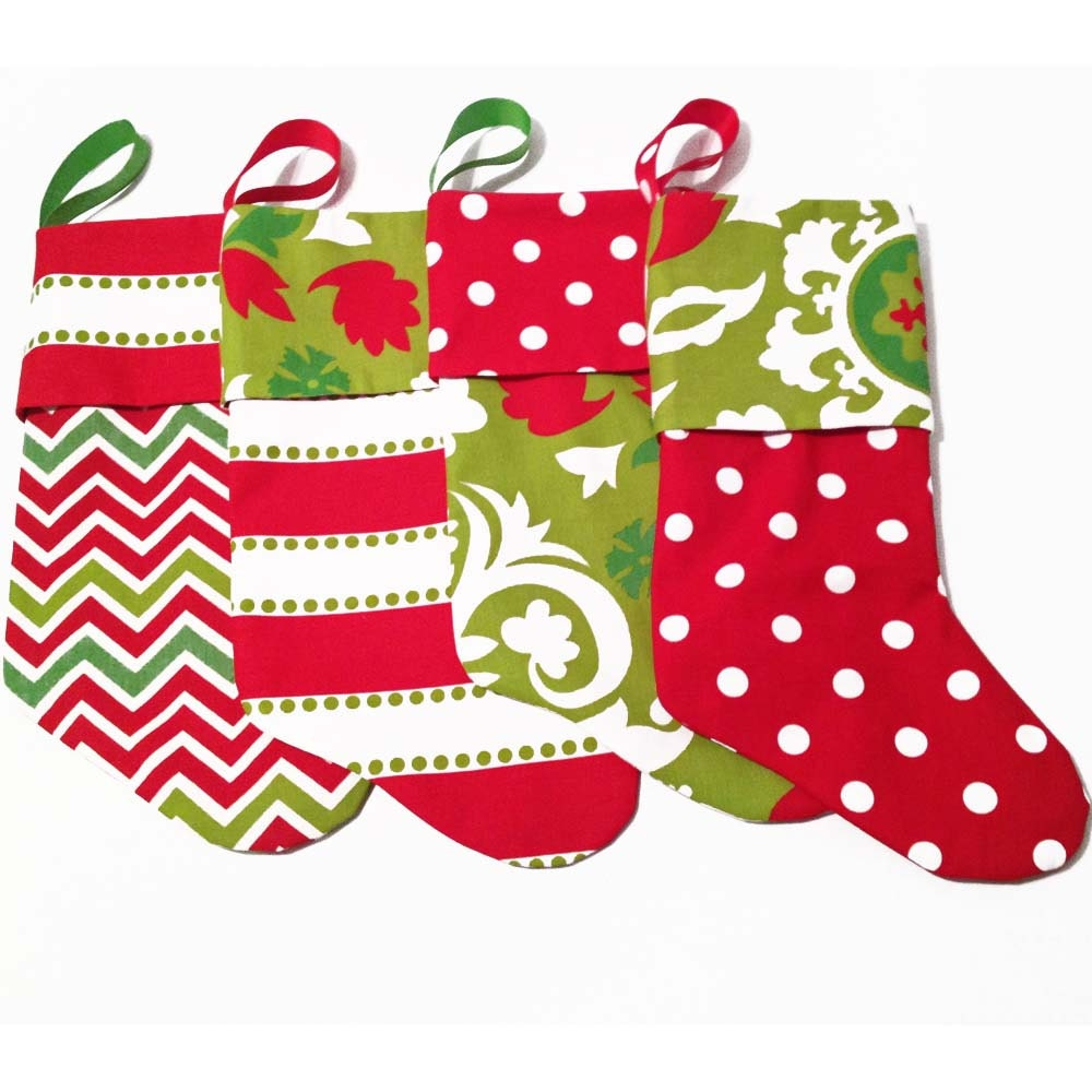 Modern Christmas Stockings Contemporary by ChristmasByCranberry