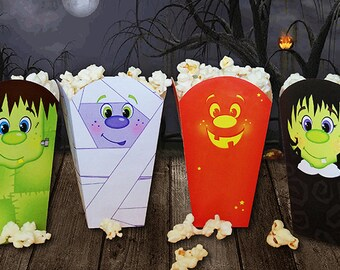 Halloween Popcorn Box- Instant Download