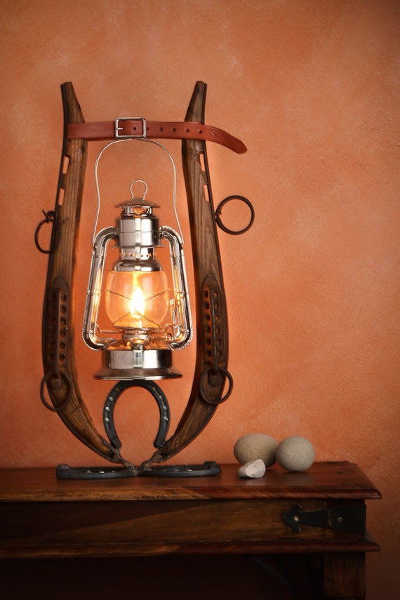 Items Similar To Horse Hames And Horse Shoes Oil Lantern