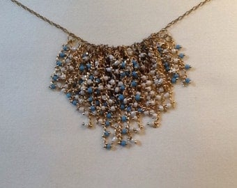 Seed Bead Cluster Necklace