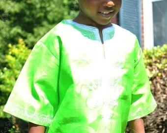 Beautiful  authentic  African print shirt (BOYS)