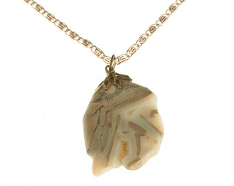 SALE-- A Chalcedony Necklace
