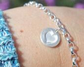 Silver heart bracelet, silver heart charm bracelet, heart jewellery, heart bracelet