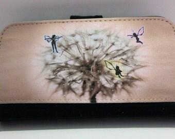 Fairy Dandelion Wallet phone case, Fairy, Dandelion, wallet phone case, iphone/Samsung case, flower,girly,shabby chic,pastel phone case