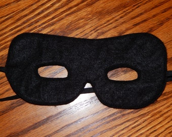 Incredibles, Zorro or The Lone Ranger Felt Superhero Mask Costume - Any Size Available