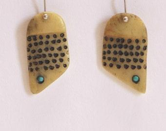 Women's earrings. Turquoise, silver earrings. Boho earrings. Women's jewellery. Women's accessories.