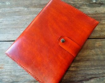 Handmade leather portfolio/ipad case in horizon tan
