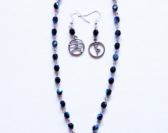 Namaste Black (Believe) Necklace and Earrings Set