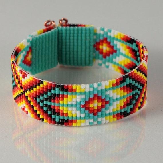 Items Similar To Bohemian Bead Loom Bracelet Native