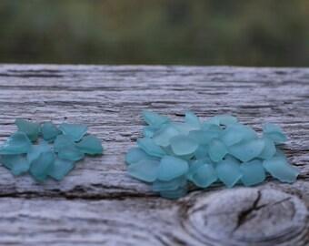 Light Blue Sea Glass Teal Sea Glass Tiny 50 pcs