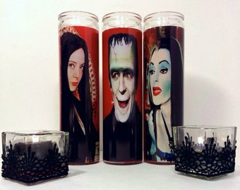 Lily Munster Prayer Candle in Red