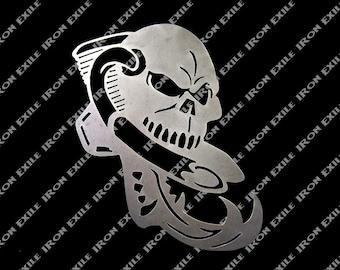 Motorcycle Engine Skull Garage Sign Great Gift Idea