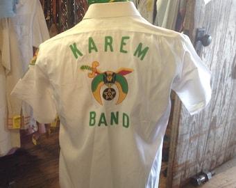 Vintage 1950s Arrow Embroidered Shrine Band Shirt sz. 40  Exellent Condition
