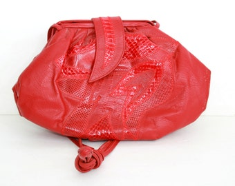Vintage Red Purse Bags by Pinky