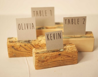 40 pieces Rustic place card holders, Wedding card holders, name card holders, Rustic wedding table number holder, wooden card holders