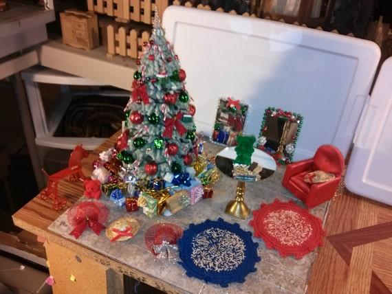 High Quality Dollhouse Furniture Living Room Set Christmas