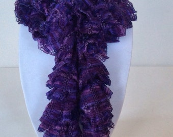 Soft Ruffle Scarf in Purple