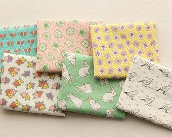 Half Yard-Scandinavian Style Cute Pattern Panel, 6 Designs Fabric Package