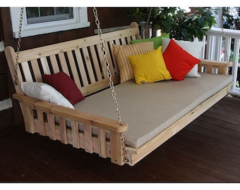 Red Cedar Traditional English 4ft. Hanging Swing Bed