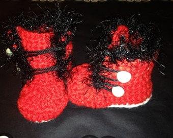 Winter Crochet Baby Booties
