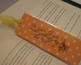 CLEARANCE SALE Paper Bookmarks / Gifts for Friends / Childrens Bookmarks /  Bible Verses / Christian Bookmark