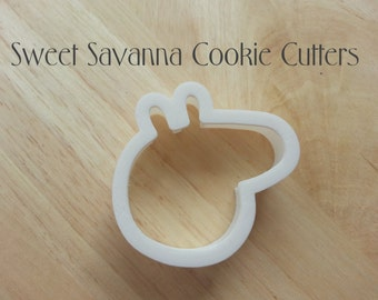 Pig Head Cookie Cutter-  Available in 2 or 3 inches