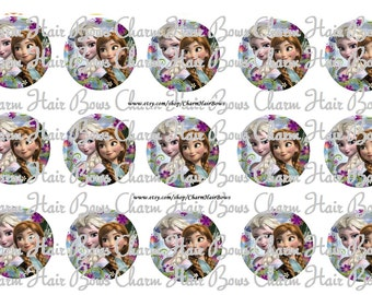 Disney movie Frozen anna and elsa bottle cap images