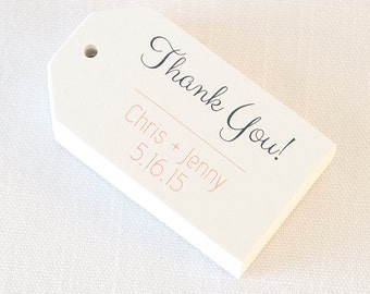 Thank You Wedding Tags, Customized Wedding Shower Tags, Custom Wedding Favor Tags  (MLT-003)
