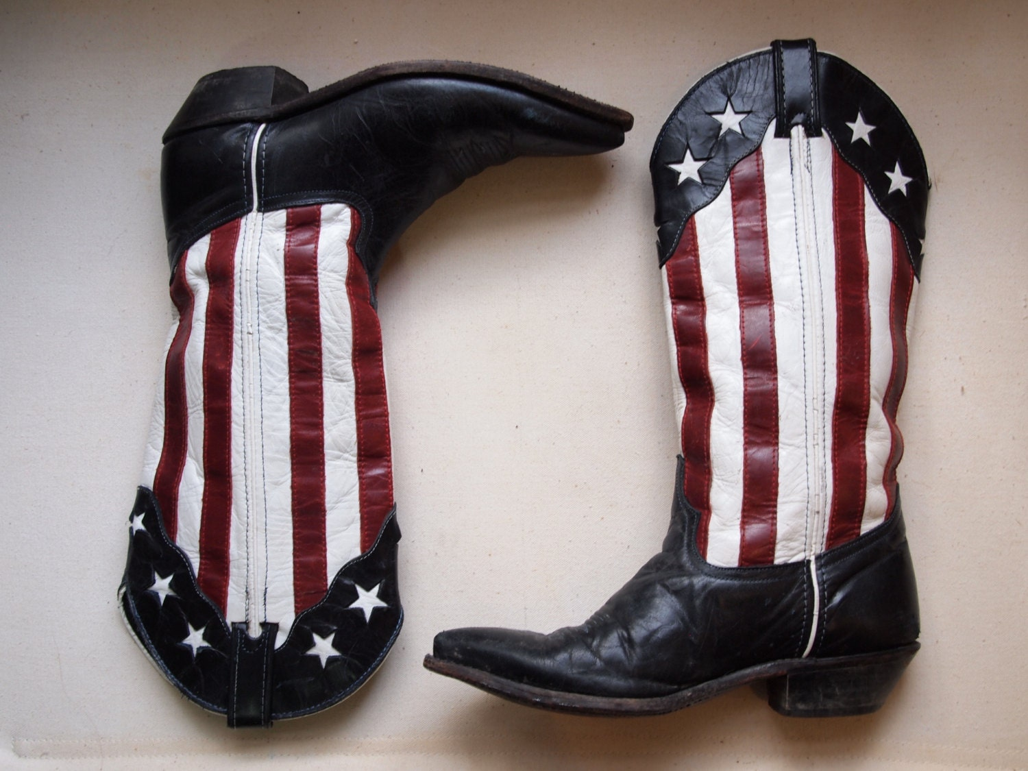 vintage american flag leather cowboy boots rodeo festival