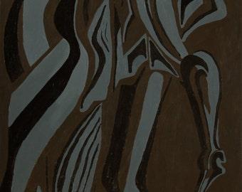 Abstract Bark, Brown