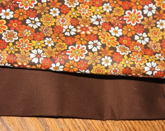 Cover your cricut! Custom Reversible Dust Cover for Your Expression! Floral Fall Colors !  Free Embroidery