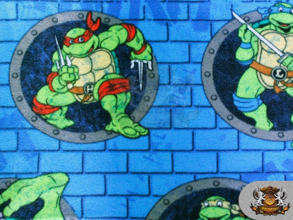Teenage Mutan Ninja Turtle Fleece Fabric Sold By The Yard