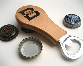Engraved Bottle Opener - Wood Opener - Beer Bottle Opener -  Personalized Bottle Opener  - Family Name Beer Bottle Opener