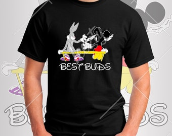 Bugs Bunny And Mickey Mouse Smoking Weed Best Buds T-shirt T-sh...