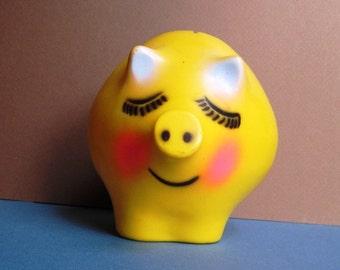 yellow pig coin bank