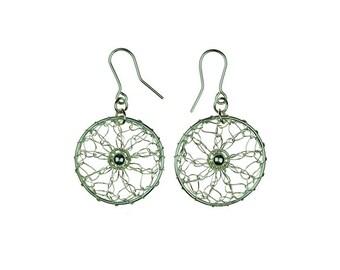 Beautiful earrings in sterling silver