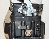 Steampunk Leather Holster by Aquative Design