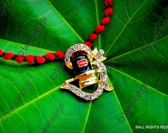 Om Aum Om Namah Shivaya Shiva Shiv Ling Linga Shankar Ishwar Ishwara Rhinestone German  Pendant Mala Necklace Chain Charm Bling Hindu PN0007