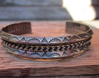 Vintage Native American Silver Bracelet