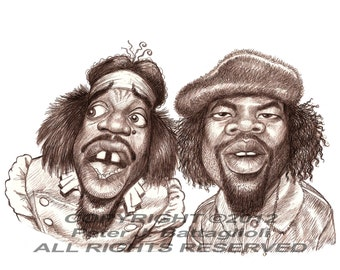 """Outkast Poster Cartoon Caricature Art Print 11"""" x 14""""  Limited Edition"""