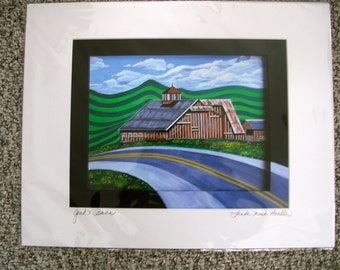 """GICLEE Print;  """"JACK'S BARN"""" Signed, matted 16x20"""
