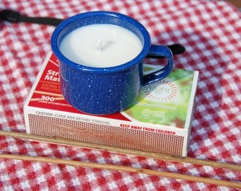 Citronella soy camping candle 4 ounce in metal camp cup, keep the bugs away this summer!