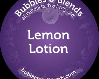 All Natural Lemon Lotion
